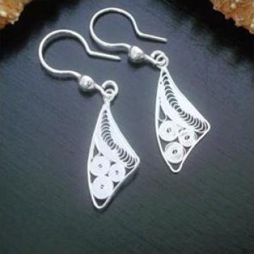 Cercei argint Silver Swirls Earrings de la Elle Custom Jewelry