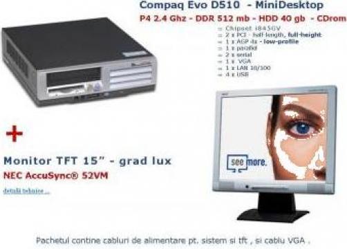 Calculator PC + LCD second hand de la Serbanescu Snc