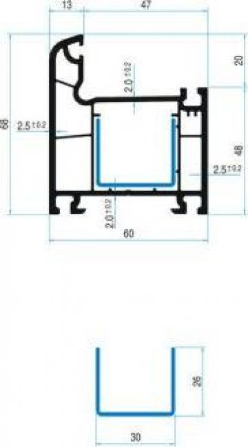Profile termopane PVC
