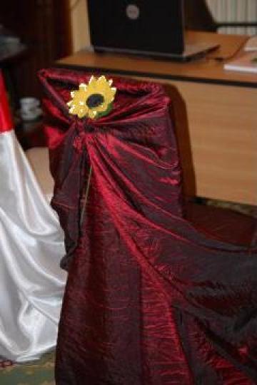 Husa scaun din tafta creponata de la Niram Wedding