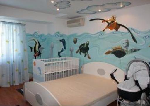 Pictura pe perete pentru camere de copii
