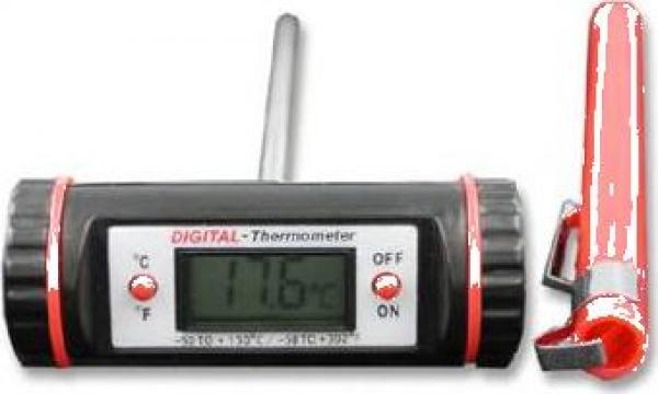 Termometru digital orizontal cu sonda de la Mes Marin Srl