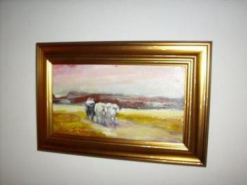 Tablou Car cu boi de la Serafim Victor M.v.
