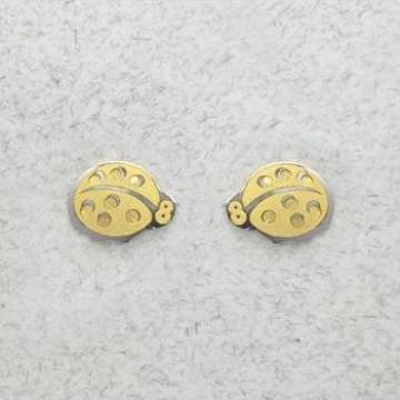 Cercei aur fetite- Buburuze Bicolore de la Kids Biijou