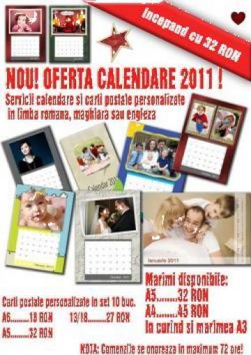 Calendare personalizate cu design elegant pe hartie foto de la Panorken Multimedia Services Srl