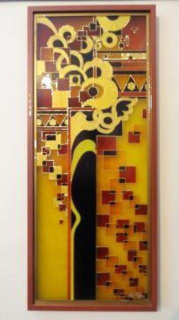 Pictura pe sticla de la Pfa Nagy- Suteu Attila