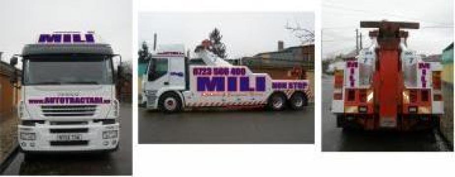 Tractari, recuperari camioane de la Sc Auto Mili Srl