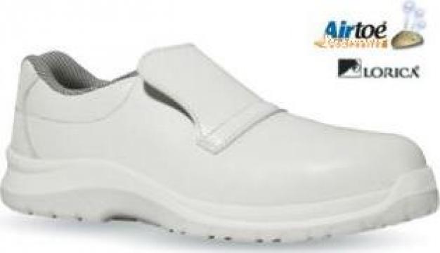 Pantofi albi Response S2 fara sireturi, cu bombeu ceramic