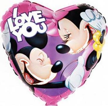 Balon Folie Disney 45 cm calitate heliu de la Jolly Club