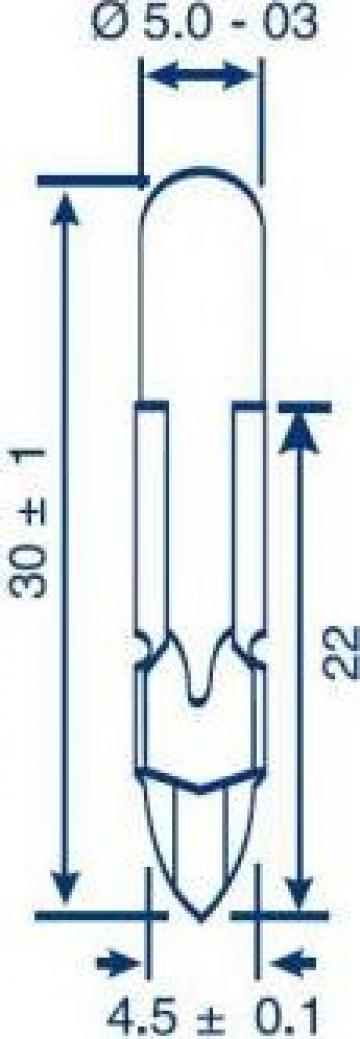 Bec telefonic T5.5, 28V, 40 mA