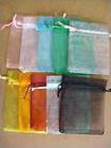 Pungi saculeti din organza colorate cu snur de la Johnny Srl.