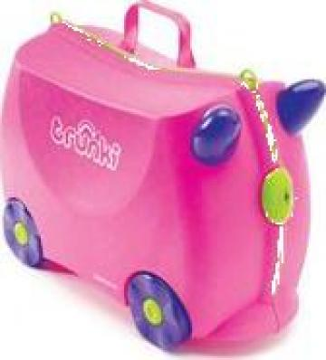 Valiza de mana copii Trunki Trixie Pink de la Stiki Concept Srl
