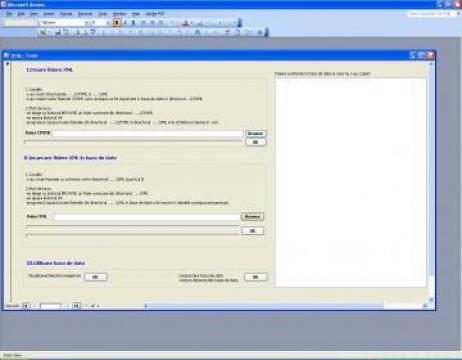 Software Baza de date gestiune fisiere CP de la Pfa Visescu Ion