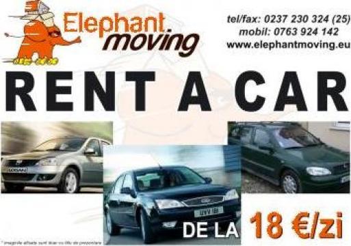 Rent-a-car Dacia Logan, Opel Astra, Ford Mondeo de la Elephant Moving Srl