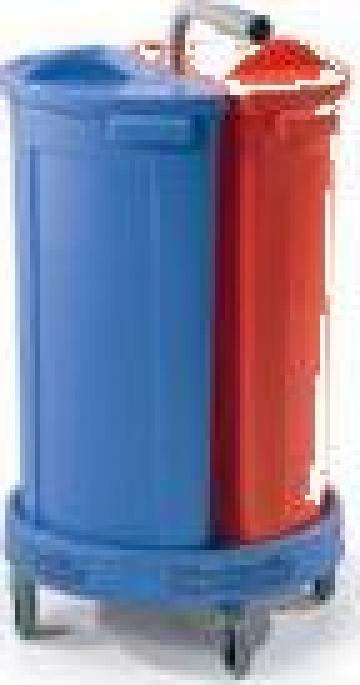 Carucior gunoi dublu Numatic de la Tehnic Clean System