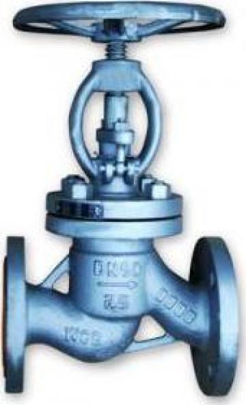 Robinet de inchidere cu ventil (RVD) corp drept din otel