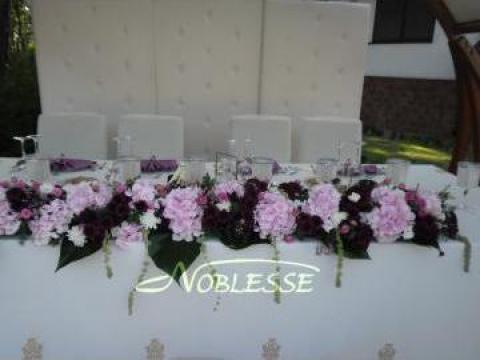 Aranjamente mese prezidiu de la Floraria Noblesse Braila