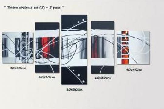 Tablouri living, abstracte - set - 4, 5, 6 piese de la Galeria Artnova
