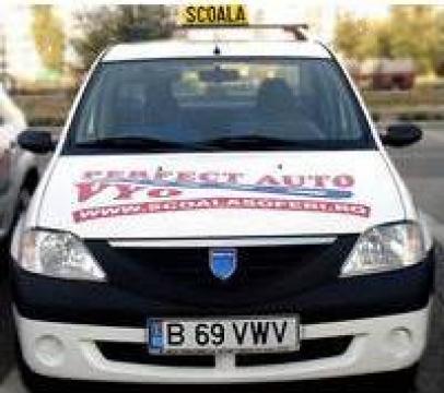 Cursuri scoala de soferi auto pe Dacia Logan de la Perfect Auto Vyo