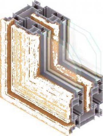 Glisante aluminiu placate cu lemn de la Sc Iuvenis Srl