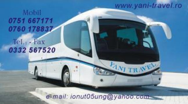 Transport persoane Curse regulate Vaslui-Italia de la Yani Travel SRL