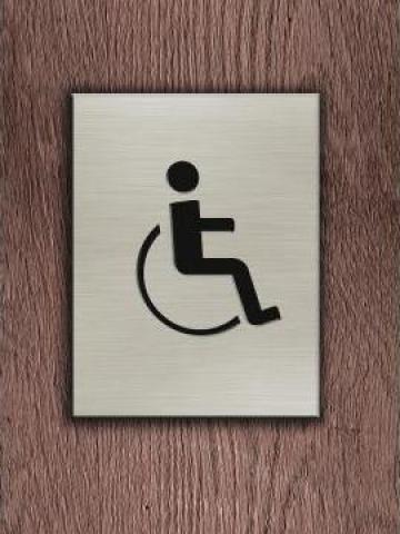 Semn informare toaleta Persoane cu dizabilitati