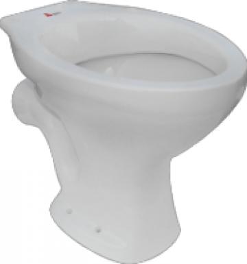 Vas WC Simplu (Evac Laterala) / L[mm]: 475; H[mm]: 400 de la Baza Tehnica Alfa Srl