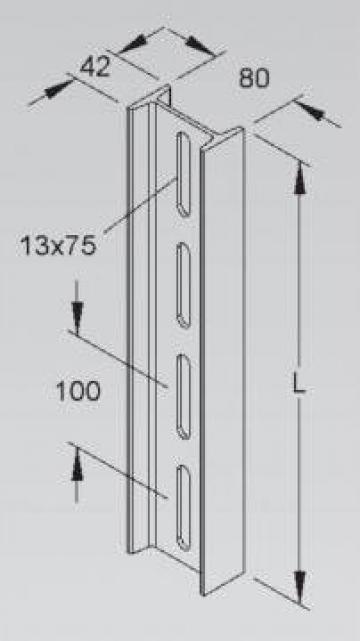 Profil I 80x42mm de la Niedax Srl