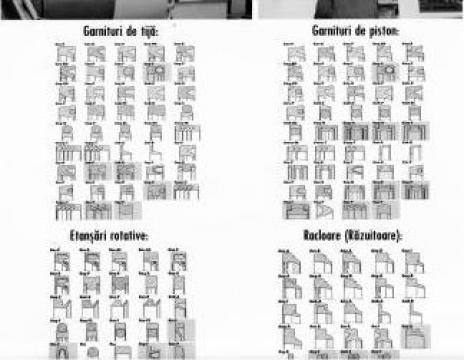 Garnituri cauciuc ptr. cilindri, subansamble hidraulice