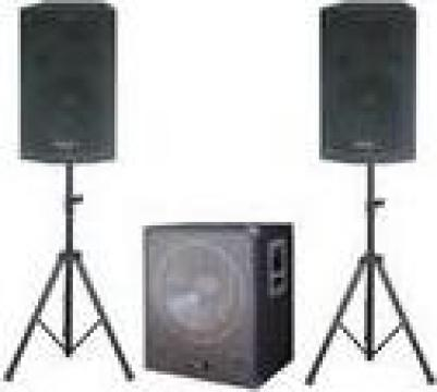 Sistem Sonorizare completa, woofer activ 3 canale + 2 boxe