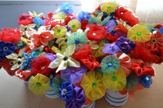 Cocarde colorate aranjamente florale nunta/botez de la Ii Paraschiv Andreea