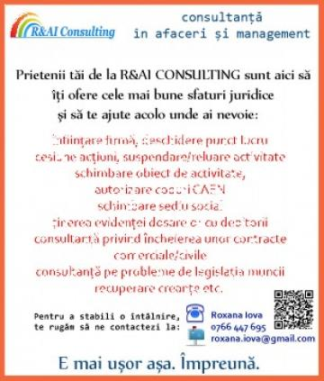 Infiintare I.F. (intreprindere familiala) de la R&AI Consulting