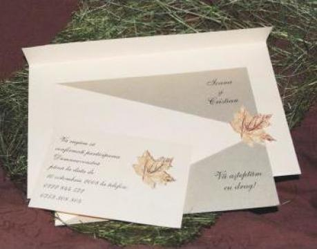 Invitatie de nunta - Frunze de toamna de la Chic & Charm