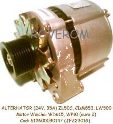 Alternator Weichai WD615, ZL50G, CDM853, LW500, (24V, 35A) de la Roverom Srl
