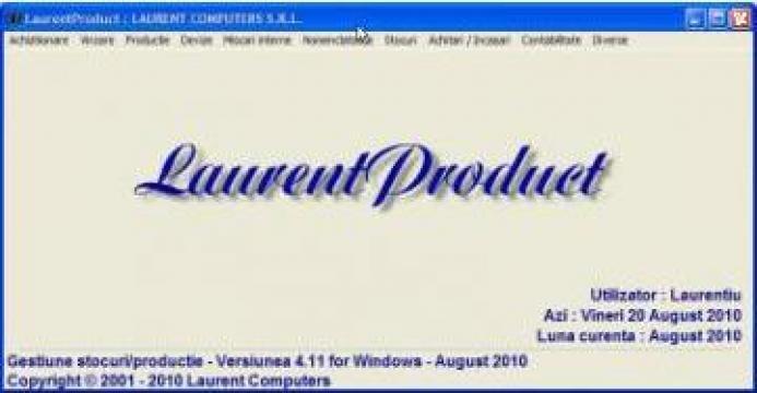 Software gestiune stocuri online LaurentProduct de la Laurent Computers Srl