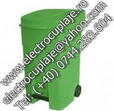 Cosuri gunoi colectare selectiva cu pedala, 80 litri Verde de la Electrofrane