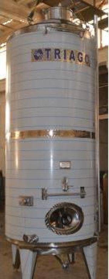 Rezervor inox AISI304, pentru stocare vin 5000L
