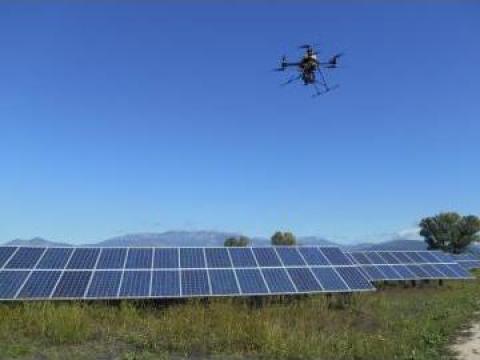 Fotografie aeriana - Parcuri fotovoltaice de la Brantax Srl