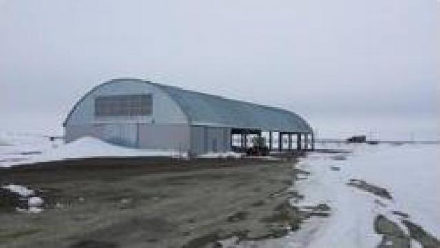 Hangar de utilaje 1500 mp de la Agmi Slobozia