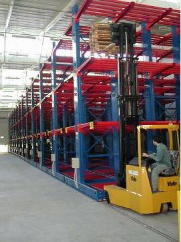 Rafturi metalice industriale mobile