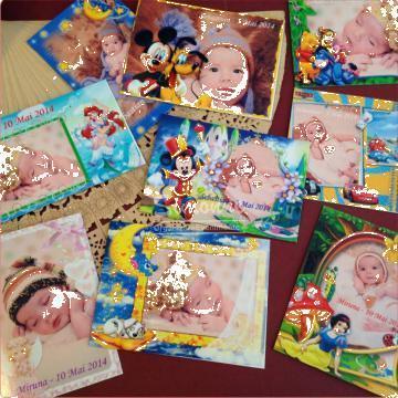 Marturie magneti personalizati botez Disney de la Simonne