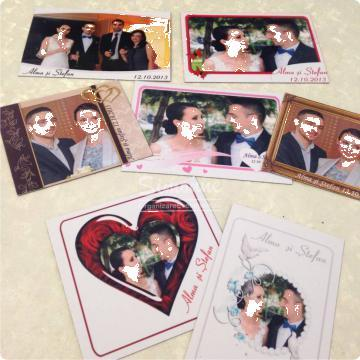 Marturii nunta magneti personalizati de la Simonne