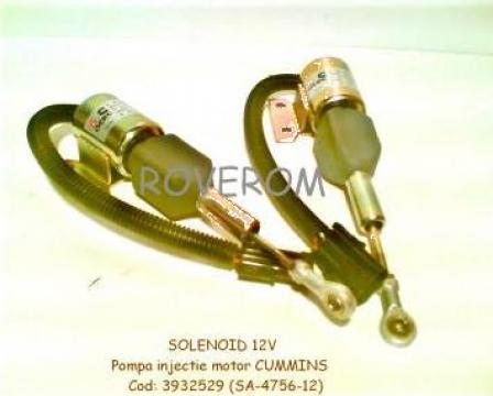 Solenoid 12V, pompa injectie Cummins 4BT, 6BT, Case IH