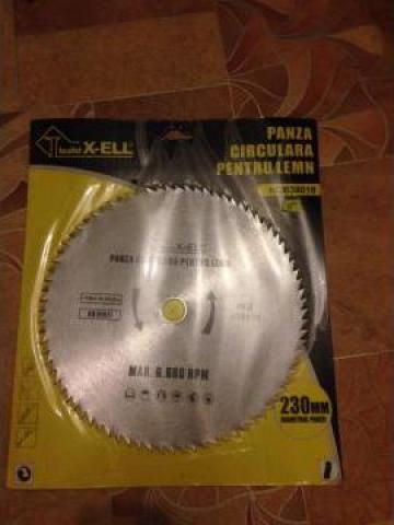 Panza circular pentru lemn cu diametrul panzei de 230 mm de la Baza Tehnica Alfa Srl