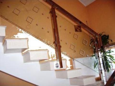 Balustrada inox-sticla