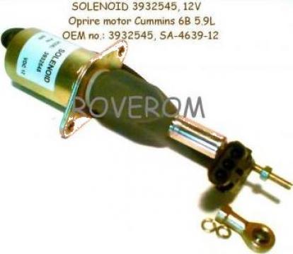 Solenoid 12V, pompa injectie Cummins 6BT5.9 de la Roverom Srl
