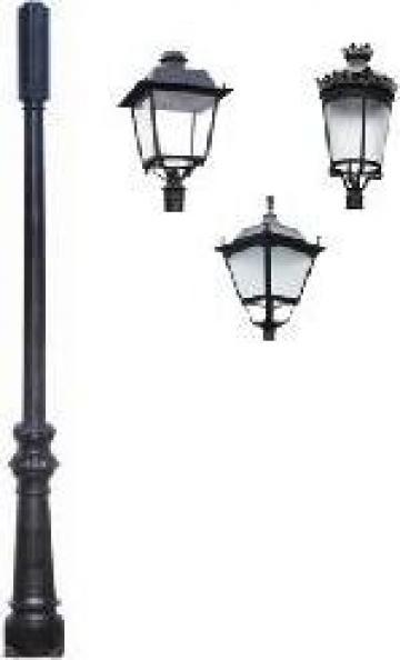 Stalp iluminat ornamental clasic fonta PLGFO9 de la Palagio System Group