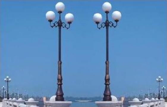 Stalp iluminat ornamental din aluminiu PLGSA25 de la Palagio System Group