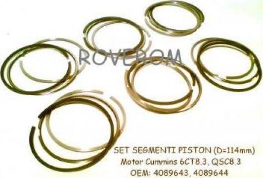 Segmenti piston motor Cummins 6CT8.3, Komatsu 6D114, d=114mm