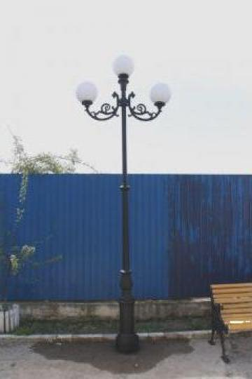 Stalp iluminat 4 metri cu 2 brate de la Green Cost